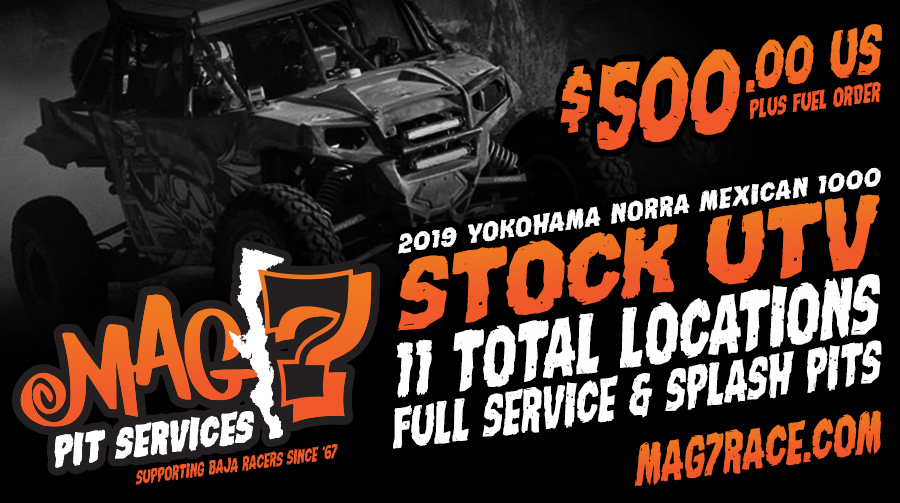 Stock UTV: 11 full service pits for $500 plus fuel order. Go to Mag7Race.com